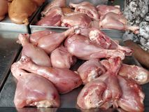 Fresh Chicken meat  at butcher shop. Closeup of Fresh Chicken meat at butcher shop Royalty Free Stock Image