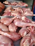 Fresh Chicken meat  at butcher shop. Closeup of Fresh Chicken meat at butcher shop Stock Photography