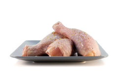 Fresh chicken meat on a plate. Isolated object suitable for advertisement/websites stock photo