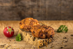 Fresh chicken meatball sandwich Stock Images