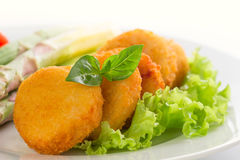 Fresh chicken nuggets Stock Photo
