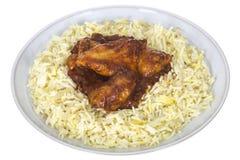 Fresh Chicken Piri Piri Served with Egg Rice Stock Photography