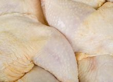 Fresh Chicken Quarters Royalty Free Stock Image