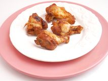 Fresh chicken. Some fresh chicken on a plate royalty free stock images