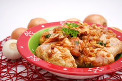 Fresh chicken. Some fresh chicken wings in a bowl stock photos