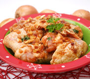 Fresh chicken. Some fresh chicken wings with spices royalty free stock photography