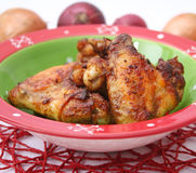 Fresh chicken. Some fresh chicken wings with spices stock photo