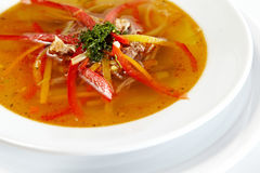 Fresh chicken soup with vegetable Stock Images