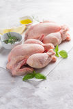 Fresh chicken with spices Royalty Free Stock Photos