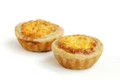 Fresh chicken tarts Royalty Free Stock Photos