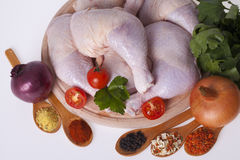 Fresh chicken thighs and drumsticks Stock Image