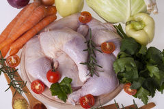 Fresh chicken thighs and drumsticks Stock Photography
