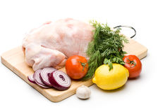 Fresh chicken with vegetables Royalty Free Stock Images