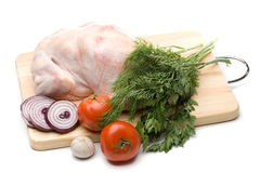 Fresh chicken with vegetables Stock Image