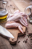 Fresh chicken wings. Royalty Free Stock Photo