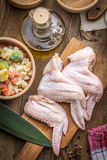 Fresh chicken wings. Stock Photography