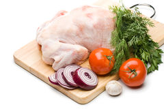 Fresh Chicken With Vegetables Stock Photo
