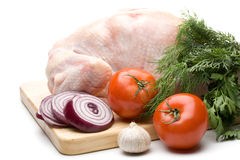 Fresh Chicken With Vegetables Royalty Free Stock Photography