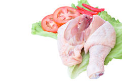 Fresh Chiken. The fresh raw chicken on white Royalty Free Stock Images
