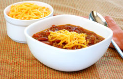 Fresh Chili with Cheddar Stock Image