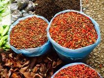 Fresh chili organic vegetables. In Luang Prabang, Laos Stock Photo