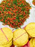 Fresh chili organic vegetables. In Luang Prabang, Laos Royalty Free Stock Photography