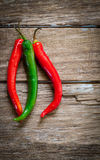 Fresh chili pepper Stock Images