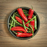 Fresh Chili Pepper Selection Royalty Free Stock Image