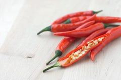 Fresh chilies Stock Image