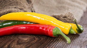 Fresh Chillis Royalty Free Stock Photography