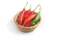 Fresh Chilly Pepper. Dedo de Moca Stock Photography