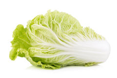 Fresh chinese cabbage, Chinese cabbage on white background. Fresh chinese cabbage on white background Stock Images