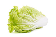 Fresh chinese cabbage, Chinese cabbage on white background. Fresh chinese cabbage on white background Royalty Free Stock Photos