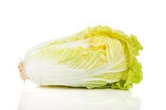 Fresh Chinese cabbage in closeup Royalty Free Stock Photography