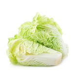 Fresh chinese cabbage on white background.  Royalty Free Stock Photos