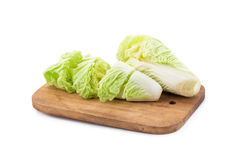 Fresh chinese cabbage on white background.  Stock Photography