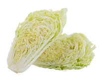 Fresh chinese cabbage on a white background. Closeup fresh chinese cabbage on a white background Royalty Free Stock Photos