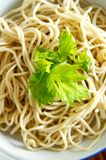 Fresh Chinese Noodle Stock Photography