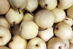 Fresh Chinese pear fruits is Healthy Food. Stock Photo