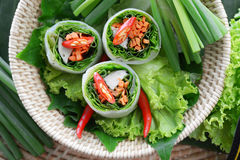 Fresh Chinese Traditional Spring rolls food Royalty Free Stock Photo