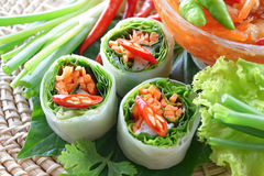 Fresh Chinese Traditional Spring rolls food Royalty Free Stock Photography