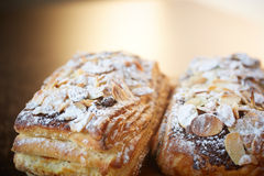 Almond chocolate croissant Royalty Free Stock Image