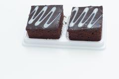Fresh chocolate brownies Stock Photos