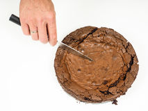 Fresh chocolate cake Royalty Free Stock Photography