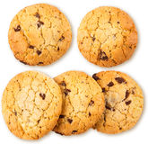 Fresh chocolate chip cookie isolated on white Royalty Free Stock Image