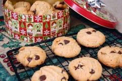 Fresh Chocolate Chip Cookies Stock Photo