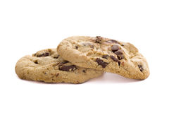 Fresh Chocolate Chip Cookies Stock Photography