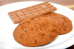 Fresh chocolate cookie Stock Images