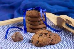 Fresh chocolate  cookies Stock Image
