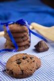 Fresh chocolate  cookies Stock Photo